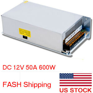 12V - 50A Amp 600W Switching Power Supply Adapter for LED Strip Light AC DC USA