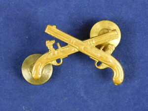 Vintage Brass Guns Six Shooters Tie Pin Tie Tack Lapel Hat Pin 1 1/4 Inch Size