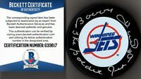 "BECKETT-BAS BOBBY HULL ""THE GOLDEN JET"" AUTOGRAPHED-SIGNED WINNIPEG JETS PUCK 17"