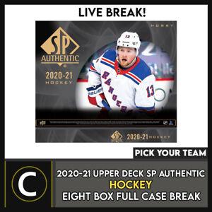 2020-21 UPPER DECK SP AUTHENTIC HOCKEY 8 BOX CASE BREAK #H1294 - PICK YOUR TEAM