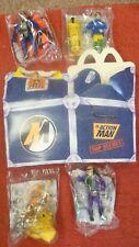 "NEW Vintage MCDONALDS ""ACTION MAN"" Set 4 Figure & Food che trasportano Card Box 1999"