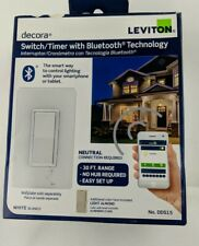 NEW Leviton Decora Digital Timer Switch DDS15 with Bluetooth Tech.