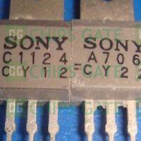 1pair 2SA706//2SC1124 A706//C1124 SONY Transistor TO-202