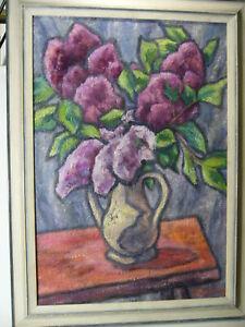 Malerin Hildegard Ebeling Elberfeld Wuppertal Neubeuern Rosenheim : Blumen Vase
