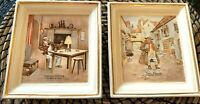 VINTAGE COLLECTIBLE NEWHALL HANLEY DICKENS WALL PLAQUES Cuttle & Weller