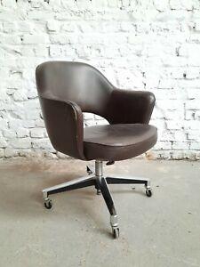 Eero Saarinen 71 S Executive Leather Arm chair Chaise Stuhl Knoll De Coene 1960s