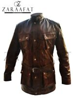 Men's Blazer Coat Jacket Cow Leather 100% Genuine Leather by Zaraafat