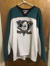 Vintage 90s Nike Anaheim Mighty Ducks Size XXL Sewn Jersey White