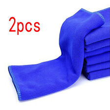 2pc Blue 30x30cm Super Water Absorbent Microfiber Cleaning Towel Car Wash Cloth