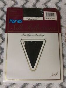 HANES SILK REFLECTIONS SILKY CONTROL TOP SANDALFOOT PANTYHOSE SIZE: CD ~VINTAGE~