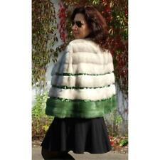 Mink Poncho Fur Cape Shawl Saga Across Fashion Party Sapphire Grey Green