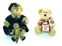 "Boyds Bears Gen Yoo Wine 2 Piece Lot 8"" Cheetah Print & Thanks Beary Much"