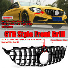 For Mercedes Benz C Class W205 2015-2018 AMG GTR Style Black Chrome Front Grill