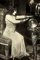 "1900's GYPSY FORTUNE TELLER Crystal Ball Vintage 4""x6"" Reprint Photograph"