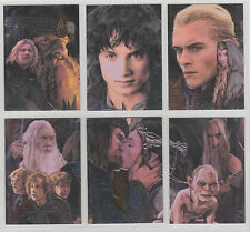 LOTR MASTERPIECES 2 II  Etched Foil Puzzle Card Set of 6