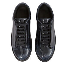 J. LINDEBERG Men's Black Peekaboo Electric Leather Sneakers EU 44 $225 NWOB