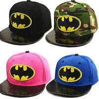 Kinder Jungen Mädchen Batman Baseball Hute Snapback Basecap Kappe Hip Hop Mütze
