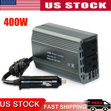 400W Dual DC 12V to 110V AC Outlets Power Inverter Car Charger Mufti-Protection