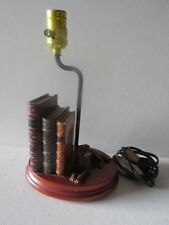 Vtg 1940s Lamp Dog Irish Setter~Large Books
