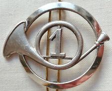 insigne de Béret 1° RCC CHASSEURS A CHEVAL AFN Algérie ORIGINAL DRAGO GUILLOCHE