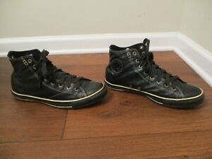 Used Sz 11 Fit Like 11.5 - 12 Converse Chuck Taylor All Star Hi Shoes Leather