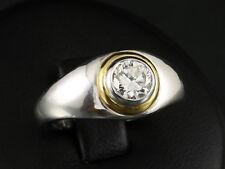Solitär Brillant Ring 0,78ct  9,3g 750/- Weißgold Gelbgold Neu & Ungetragen