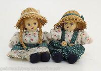 Sammelpuppen mit Porzellankopf Junge & Mädchen  13,5 cm