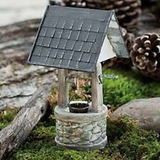 Miniature Dollhouse Fairy Garden - Shingle Roof Wishing Well - Accessories