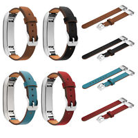 Sport Echtes Leder Armband Uhrenarmband Ersatz Band Strap Für Fitbit Alta HR Uhr