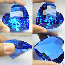 580+ cts Huge Heart (56 mm) Lab Blue Sapphire Crystal AAA B37