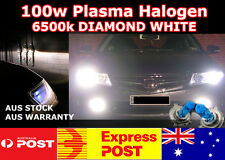 12V H11 100W SUPER BRIGHT WHITE 6500k HALOGEN HEADLIGHT GLOBES / BULBS