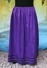 Hand Made Amuzgo Dark Purple Skirt, Oaxaca Mexico, Hippie Boho Santa Fe Style