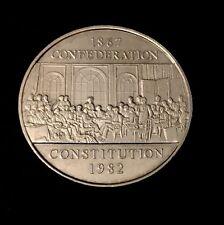 1982 - Canadian 1 Dollar Nickel Coin - Confederation