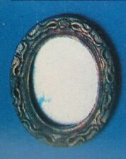 Dollhouse Miniature Gold-tone Oval Wall Mirror 1:12 Scale New VINTAGE