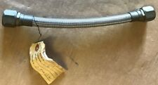 """stainless steel hose 3/4"""" x 13"""" long threaded ends"""