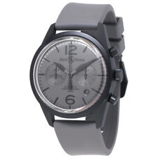Bell and Ross Vintage Chronograph Grey Dial Mens Watch BR126-ORIG-CE