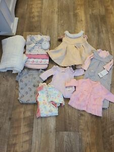 newborn girl clothes lot winter carters The Children's place some nwt other euc