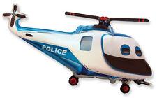 Polizei Helikopter  ca. 80cm Luftballons Folienballon Geburtstag Figur deko xxl