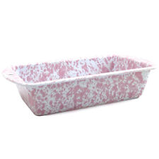 Crow Canyon Enamelware Loaf Baking Pan in Pink Marble D32PKM