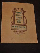 ancien catalogue 1926 sur pompes  velos auto motos