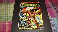 THE CHAMPIONS #1 MARVEL COMIC 1975 GHOST RIDER BLACK WIDOW ANGEL ICEMAN HERCULES