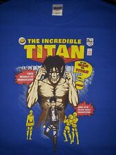 The Incredible Titan Attack on Titan/Incredible Hulk Comic Mashup Mens XL