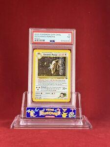2000 Pokemon Gym Challenge GIOVANNI'S PERSIAN 8/132 Holo Card PSA 7