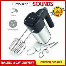 Morphy Richards Total Control Hand Mixer, 400W Stainless Steel Dough Hooks Grey