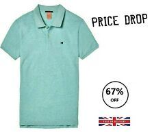 Men's Scotch & Soda Classic Clean Pique Polo 142733 1798 - Jade Green