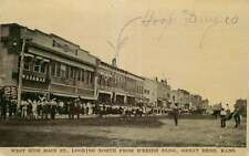 Postcard West Side Main Street, Hooper Drug Store, Great Bend, Kansas ca 1908
