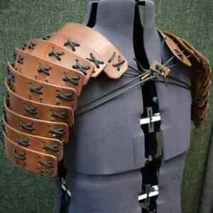 Samurai Shoulder Armor Leather Chest Harness Belt Viking Knight Tops Ninja