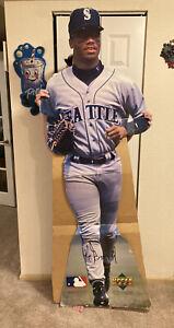 ⭐️ Vintage Ken Griffey Jr Lifesize Cardboard Cutout Mariners Baseball Rare 🎏