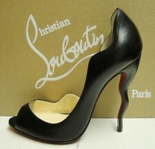 Christian Louboutin Deepik 120 Leather PVC Peep Toe Heels Pumps Shoes 40.5