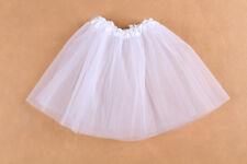 Tutu Skirts for Baby Girls From 2-7t Tulle Fluffy Summer Ballet Dance Wear White